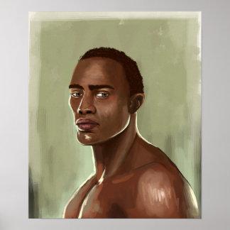 Poster africano considerável do homem