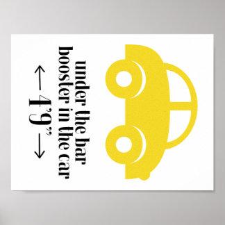 Poster amarelo do carro