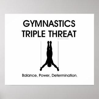 Poster Ameaça SUPERIOR triplicar-se da ginástica (homens)