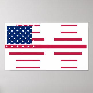 Poster americano da parede da sala do escritório pôster
