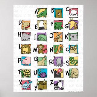 Poster animal do alfabeto (pequeno)