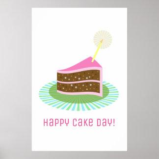 Póster Aniversário feliz do dia do bolo