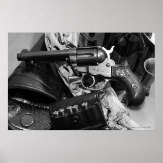 Poster antigo legal da fotografia da arma