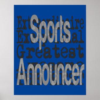 Póster Anunciador de esportes Extraordinaire