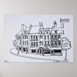 Póster Arquitetura de Santo-Omer, France