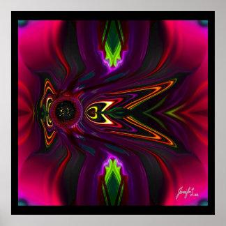 Poster Arte abstracta floral escura