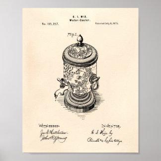 Póster Arte Peper velho da patente do refrigerador de