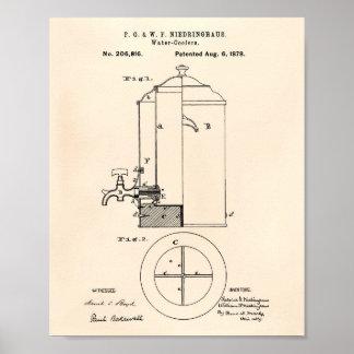 Póster Arte Peper velho da patente dos refrigeradores de