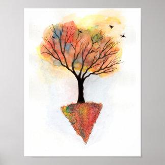 Póster Árvore das cores