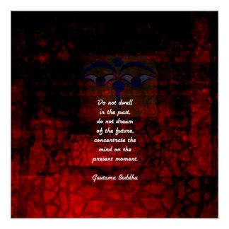 Póster As citações Uplifting de Buddha não residem no