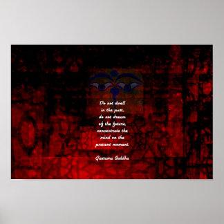 Poster As citações Uplifting de Buddha não residem no