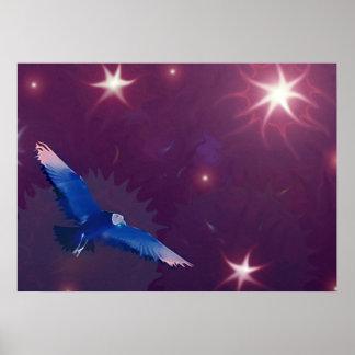 Poster astral da Foto-arte da gaivota