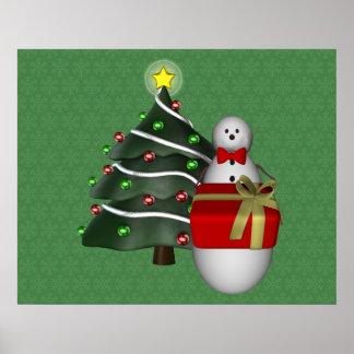Poster atual do feriado do Natal da árvore do