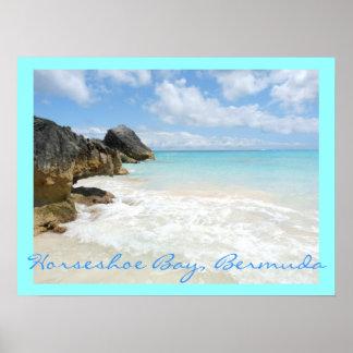 Poster Baía em ferradura, Bermuda