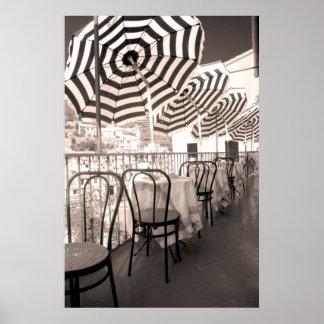 Póster Balcão catita do restaurante, Italia