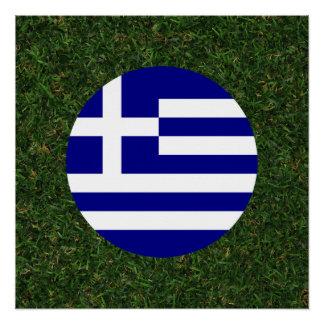 Póster Bandeira da piscina na grama