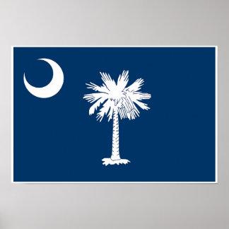 Poster Bandeira do estado de South Carolina