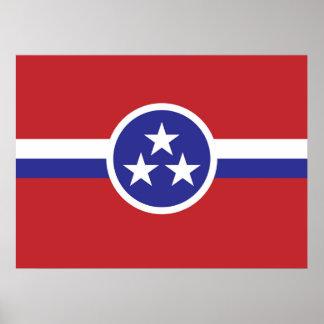 Póster Bandeira do estado de Tennessee