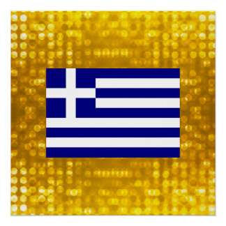 Póster Bandeira grega oficial
