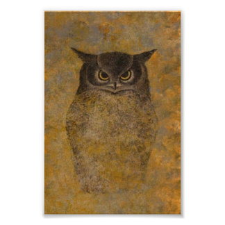 Póster Belas artes do japonês da coruja