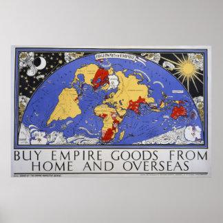 Poster Belas artes dos bens do império