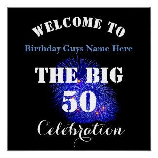 Póster Boa vinda… a celebração GRANDE de 50 aniversários