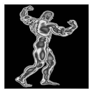 Poster Bodybuilding da pose dos homens