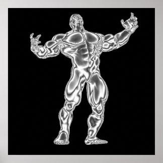 Poster Bodybuilding dos homens