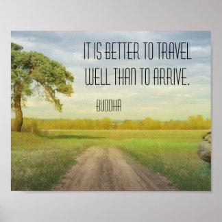 Poster bom das citações de Buddha do viagem Pôster