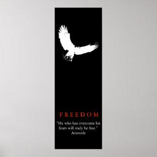 Poster branco preto da silhueta da águia americana