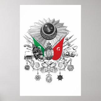 Poster Brasão do Grayscale do império otomano