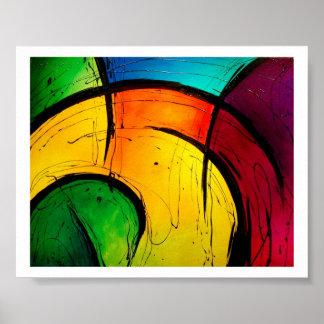 Poster brilhante Funky da arte abstracta
