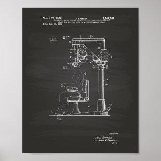 Póster Cabelo automático que corta o quadro da arte de
