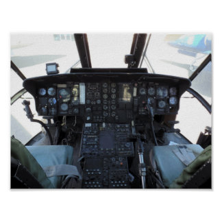 Poster Cabina do piloto do helicóptero