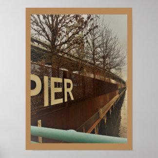 Poster Cais Philadelphfia da aterragem de Penn