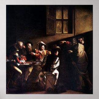 Poster Caravaggio a chamada de St Matthew