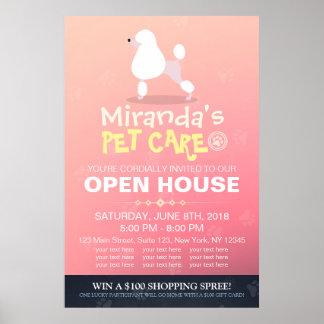 Póster Casa aberta da loja de animais de estimação