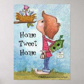 Poster Casa do Tweet da Presente-Casa do Birdhouse do