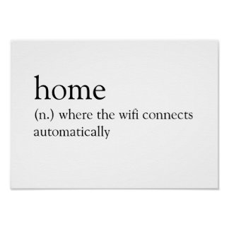 Poster Casa: Onde o wifi conecta automaticamente