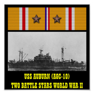POSTER CASTANHO-ALOIRADO DE USS (AGC-10)