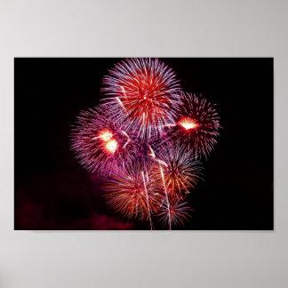 Póster Celebração explosiva dos fogos-de-artifício