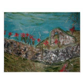 Poster celta da arte da paisagem