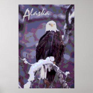 Poster cénico decorativo de Alaska da águia