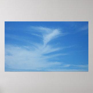 Poster Céu azul com a foto abstrata da natureza das