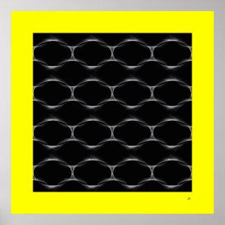 Poster Chain do design do pop (amarelo)