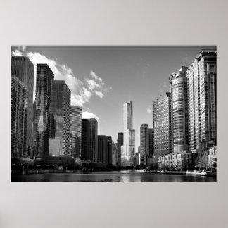 POSTER CHICAGO RIVER OCIDENTAL