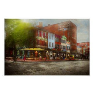 Póster Cidade - Washington DC - vida na 7a rua 1912