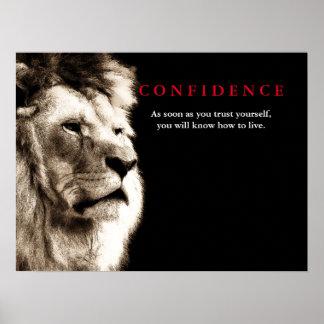 Poster Citações da confiança do leão inspiradas