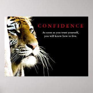 Poster Citações da confiança do tigre inspiradas