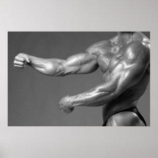 Poster clássico do braço da parede do Gym do Bodyb